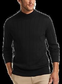 Mens Sweaters - Joseph Abboud Black Modern Fit 37.5® Mock Neck Sweater - Men's Wearhouse