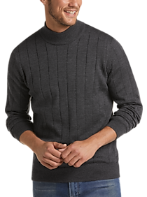 Mens - Joseph Abboud Charcoal 37.5® Modern Fit Mock Neck Sweater - Men's Wearhouse