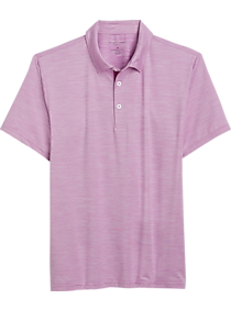 Pronto Uomo Lavender Slim Fit Performance Short Sleeve Polo