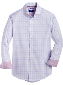 Mens Egara, Shirts - Egara Pink Check Slim Fit Sport Shirt - Men's Wearhouse