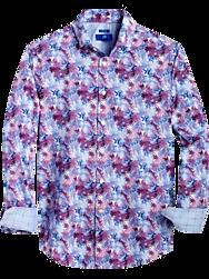 Egara Purple & Blue Floral Modern Fit Sport