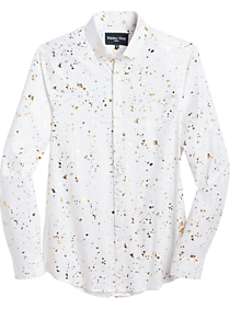 Paisley & Gray Slim Fit Sport Shirt, Gold Splatter