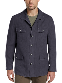 Mens Casual Coats, Sport Coats - Joseph Abboud Navy Linen Modern Fit Casual Coat - Men's Wearhouse