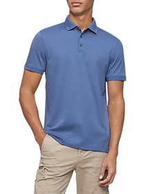 Mens Modern Fit, Casual Shirts - Calvin Klein Men's Liquid Touch Polo Shirt - Men's Wearhouse