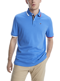 Tommy Hilfiger TH Lux Interlock Blue Classic Fit Polo