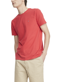 Tommy Hilfiger Red Stretch Crew Neck Tee