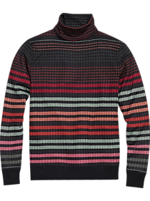 Mens Vintage Shirts – Casual, Dress, T-shirts, Polos Paisley  Gray Slim Fit Turtleneck Sweater Gray Multi Stripe $53.99 AT vintagedancer.com