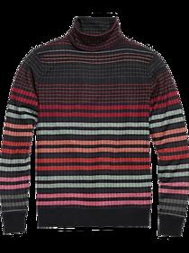 Mens Vintage Shirts – Casual, Dress, T-shirts, Polos Paisley  Gray Slim Fit Turtleneck Sweater Gray Multi Stripe $89.99 AT vintagedancer.com