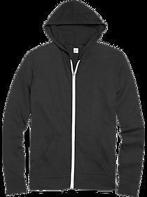 Alternative Apparel Black Modern Fit Full Zip Eco Jersey Hoodie