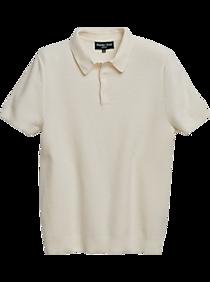 1930s Men's Summer Clothing Guide Paisley  Gray Slim Fit Polo Shirt White Mesh $39.99 AT vintagedancer.com