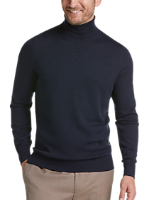 Joseph Abboud Blue Modern Fit Turtleneck Sweater