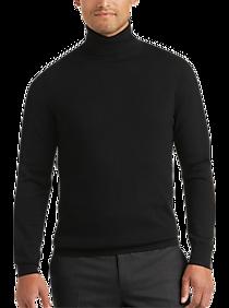 Mens Turtleneck, Sweaters - Joseph Abboud Black Modern Fit Turtleneck Sweater - Men's Wearhouse