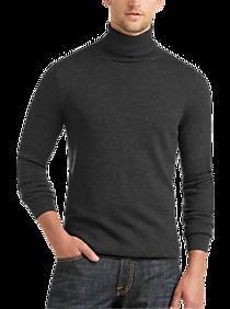 Mens Turtleneck, Sweaters - Joseph Abboud Charcoal Modern Fit Turtleneck Sweater - Men's Wearhouse