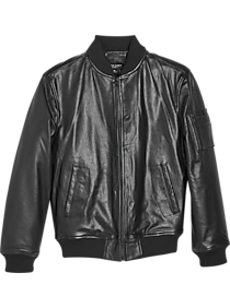 Mens Clearance Shop All Outerwear, Clearance Sale - Pronto Uomo Slim Fit Black Aviator Jacket - Men's Wearhouse