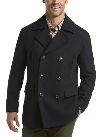 Joseph Abboud Navy Stripe Modern Fit Peacoat
