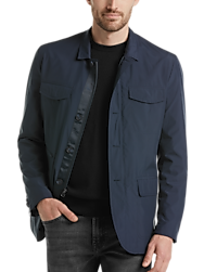 Awearness Kenneth Cole Navy Modern Fit Casual Coat