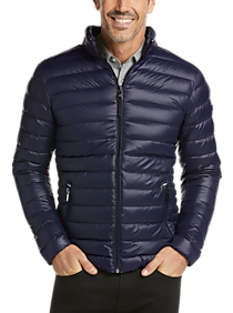 Mens Extra 30% Off Clearance, Outerwear - Calvin Klein Navy Modern Fit Packable Quilted Jacket - Men's Wearhouse