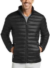 Mens Extra 30% Off Clearance, Outerwear - Calvin Klein Black Modern Fit Packable Quilted Jacket - Men's Wearhouse