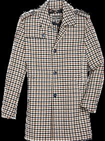 60s 70s Men's Jackets & Sweaters Paisley  Gray Slim Fit Topcoat Chestnut  Blue Houndstooth $249.99 AT vintagedancer.com