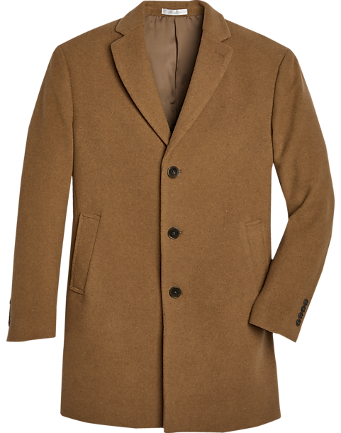 Calvin Klein Camel Slim Fit Topcoat