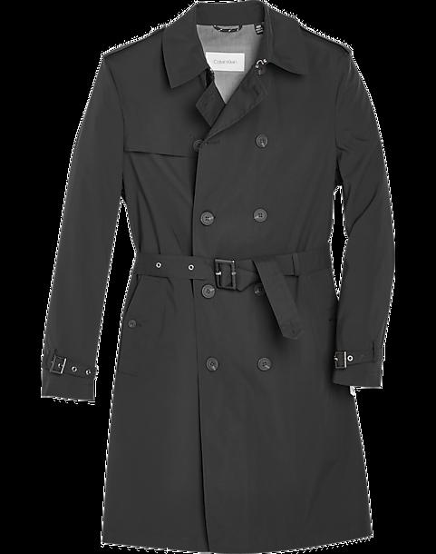 Calvin Klein Classic Fit Raincoat (Black)