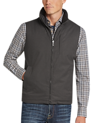 JOE Joseph Abboud Charcoal Modern Fit Reversible Vest