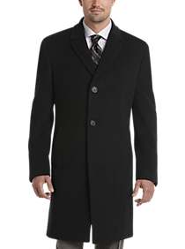 Mens Extra 30% Off Clearance, Outerwear - Joseph Abboud Charcoal Gray Cashmere Blend Modern Fit Topcoat - Men's Wearhouse
