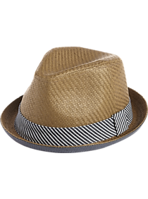 Mens Scarves, Hats & Gloves, Accessories - Free Authority Brown and Blue Paper Hat - Men's Wearhouse