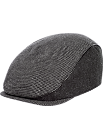 Mens Scarves, Hats & Gloves, Accessories - Free Authority Charcoal & Gray Houndstooth Ivy Hat - Men's Wearhouse