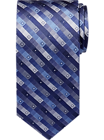 Calvin Klein Blue Stripe Extra Long Narrow Tie