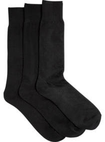 Pronto Uomo Black Socks, Three Pack