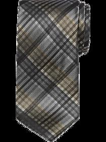 Awearness Kenneth Cole Gray Stripe Extra Long Narrow Tie