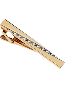 Mens 30% Off Accessories, Clothing - Pronto Uomo Gold & Silver Tie Bar - Men's Wearhouse