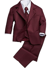 Mens Boys Suits & Tuxedos, Suits - Peanut Butter Collection Toddler's Tuxedo, Burgundy - Men's Wearhouse