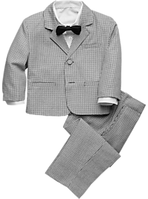 Mens Boys Suits & Tuxedos, Suits - Peanut Butter Collection Toddler Boys Tuxedo, Black & White Houndstooth - Men's Wearhouse