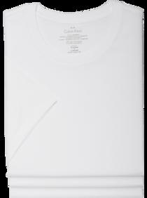 Mens Underwear, Accessories - Calvin Klein White Crew Neck Classic Tee Shirt, 3-Pack - Men's Wearhouse
