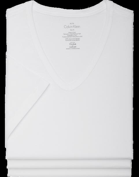 3-Pack Calvin Klein White V-Neck Cotton Classic Tee Shirt