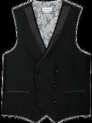 Calvin Klein Black Double-Breasted Vest
