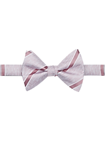 Mens Ties, Sale - Calvin Klein Pink Stripe Pre-Tied Bow Tie - Men's Wearhouse