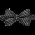 Calvin Klein Black Textured Stripe Bow Tie