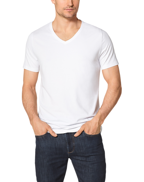 Tommy John Cool Cotton White V Neck T Shirt Men S Accessories Men S Wearhouse