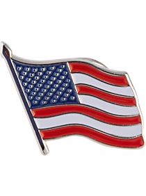Mens Lapel Pins, Accessories - American Flag Lapel Pin - Men's Wearhouse