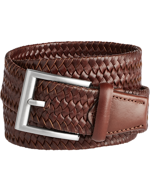 Joseph Abboud Cognac Braid Belt