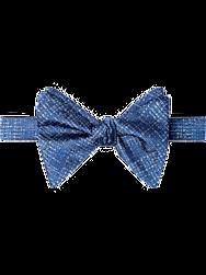 Calvin Klein Blue Woven Pattern Pre-Tied Bow Tie