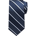 Nautica Navy & Blue Stripe Narrow Tie