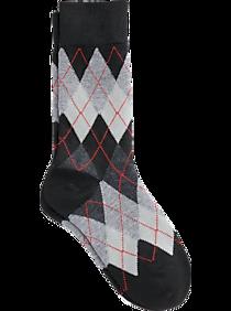Egara Boys Black Argyle Socks, 1 Pair