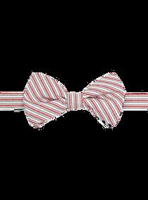 Mens Ties, Sale - Paisley & Gray Pre-Tied Bow Tie, Red & White Stripe - Men's Wearhouse
