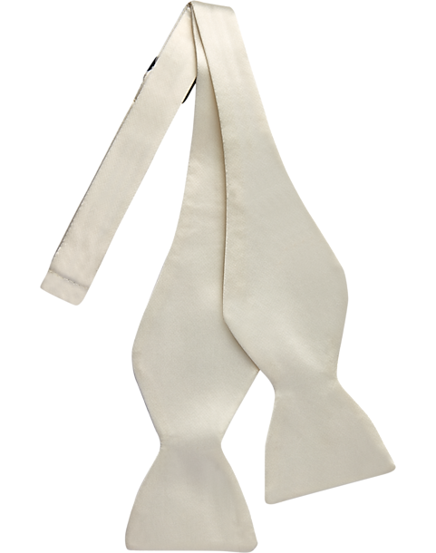 for Formal Occasions New Men/'s Solid Ivory Self-Tie Bowtie