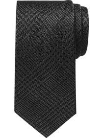 BLACK by Vera Wang Formal Narrow Tie, Charcoal Glen Plaid