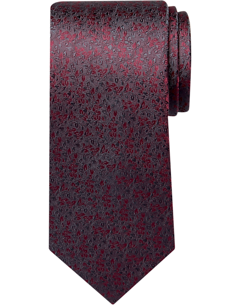 Awearness Kenneth Cole Magenta Mini Floral Narrow Tie